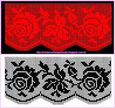 Pike Dantel Örnekleri Filet Crochet, Crochet Motifs, Crochet Borders, Crochet Chart, Thread Crochet, Crochet Doilies, Crochet Lace, Crochet Stitches, Doily Patterns