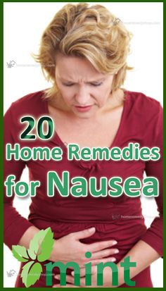 Natural remedies for Nausea: 20 Easy Home Remedies: [I prefer ginger or ginger ale, but that's not for everyone. Home Remedies For Nausea, Home Health Remedies, Natural Health Remedies, Natural Cures, Herbal Remedies, Health Tips, Health And Wellness, Health Fitness, Natural Remedies