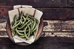 Food Photography, Green Beans Photo, Black and White Photography, Rustic, Kitchen Wall Decor, Fine Art Photography, Vegetable Photo by StephanieSchamban on Etsy