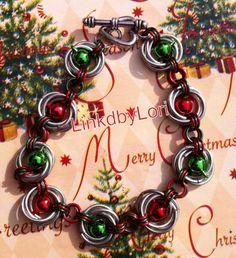 Jingle Bells Mobius Chainmail Bracelet | Linkdbylori - Jewelry on ArtFire