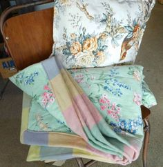 vintage fabric/blanket quilts & cusion covers