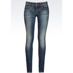 Armani Jeans Super Stretch Vintage Medium Dark Wash Jeans (205 CAD) ❤ liked on Polyvore featuring jeans, pants, bottoms, jeans/pants, blue, mid-rise jeans, dark blue denim jeans, white stretchy jeans, faded blue jeans and vintage jeans
