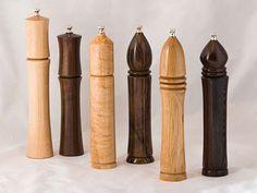 "Artist: Jim Sprague - ""Pepper/Salt grinders""  Wood Turning"