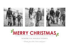 Mixbook Modern Merry Christmas Christmas Cards
