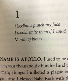 GUYS THE TRIALS OF APOLLO CHAPTER TITLES ARE ALL HAIKUS