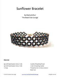 Sunflower Bracelet pdf
