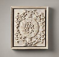 Hand-Carved Rococo Wood Panel White Small.  Two of these on either side of the other one for our master bedroom?