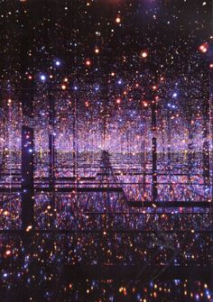"""deliciousdimension:  """" yayoi kusama  infinity mirrored room – the souls of millions of light years away, 2013  """""""