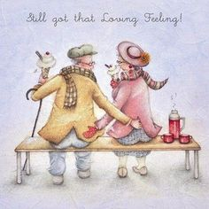 Cards Still Got That Loving Feeling Still Got That Loving Feeling - Berni Parker Designs Vieux Couples, Old Couples, Happy Anniversary, Anniversary Cards, Anniversary Congratulations, Marriage Anniversary, That's Love, True Love, Birthday Wishes