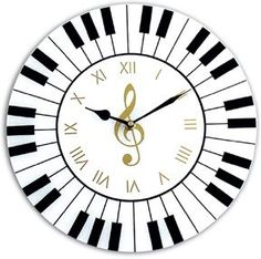 The Piano Wall Clock is an awesome housewarming gift idea for a pianist or musician! This unique clock makes for a beautiful piece of home decor. Wall Clock Gift, Diy Clock, Music Clock, Music Wall, Handmade Wall Clocks, Diy Wood Wall, Music Crafts, Wood Clocks, Music Notes