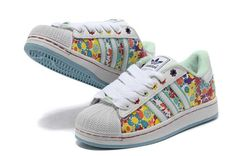 Womens Adidas Superstar II Flower Colorful White