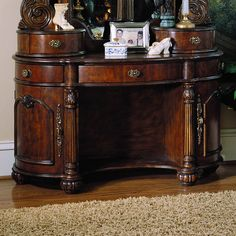 Pulaski Edwardian Vanity - Free In-Home Delivery Wood Makeup Vanity, Bedroom Makeup Vanity, Diy Vanity, Vanity Fair, Pulaski Furniture, Wicker Furniture, Home Decor Furniture, Home Furnishings, Luxury Furniture