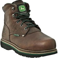 JD3673 John Deere Women's Waterproof Safety Boots - Dark Brown
