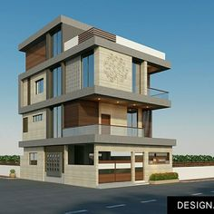 Nice one House Wall Design, 3 Storey House Design, House Front Design, Modern House Design, Building Elevation, House Elevation, Modern Architecture House, Architecture Plan, Modern Bungalow Exterior