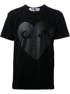 COMME DES GARÇONS PLAY heart print T-shirt. #commedesgarçonsplay #cloth #基本款t恤
