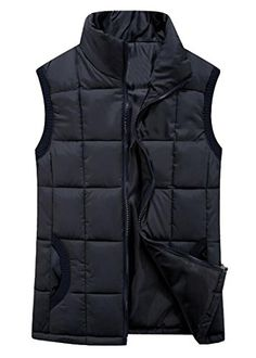 ARTFFEL Womens Winter Warm Quilted Puffer Vest Jacket Outerwear Black S * See this great product. (This is an affiliate link)