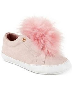 KIDS GIRLS CHILDREN POM POM FUR TRAINERS SPARKLY SNEAKERS HIGH TOP BOOTS SIZE8-1