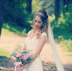 Pink bouquet june wedding