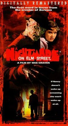 Nightmare on Elm Street. Awesome movie! I will watch it anytime it's on even with the cheesiness. The remake however, total crap!