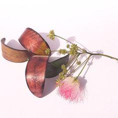 Custom Recycled Leaf Bracelet  Upcycled Vinyl by ReplayStudio