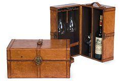 16x9 Leather Wine Box on OneKingsLane.com