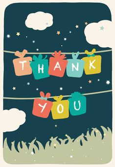 Free Printable Thank You For Your Presence Greeting Card by littlestar cindy