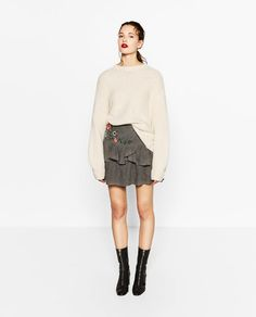 Image 7 of EMBROIDERED SHORT SKIRT from Zara