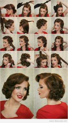Hair Upright Pin Curls Tutorial