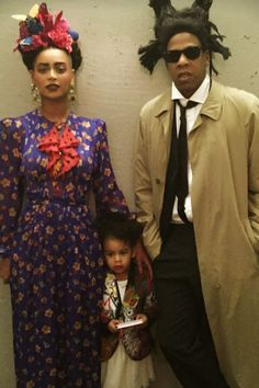 Bey as Frida Kahlo, Jay as Basquiat, and Blue as their Picasso baby