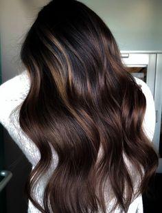 Dark Brunette Balayage, Dark Brown Balayage, White Blonde Highlights, Balayage Straight Hair, Long Brunette, Hair Color Balayage, Brunette Hair, Reverse Balayage, Color Highlights