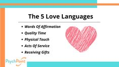 5 Love Languages, Mental Health Support, Words Of Affirmation, Quality Time, Physics, Affirmations, Chart, 5 Love Languages List, Positive Affirmations