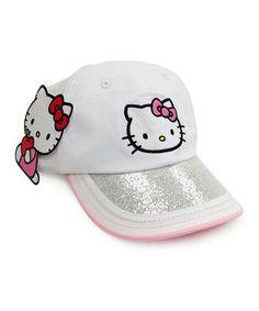 Look at this #zulilyfind! White Hello Kitty Cap by Hello Kitty #zulilyfinds