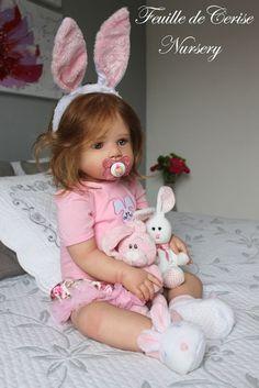 Feuille de Cerise Nursery - reborn toddler girl Lilly Kit by Regina Swialkowski Reborn Baby Girl, Bb Reborn, Reborn Child, Reborn Toddler Dolls, Newborn Baby Dolls, Baby Girl Dolls, Reborn Dolls, Baby Boy, Baby Dolls For Kids
