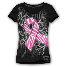 Girlie Girl Originals Cure Pink Ribbon Hope Faith Prayers Breast ...