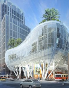 Cesar Pelli's Transbay Transit Center....redefining and making bus transportation cool again.