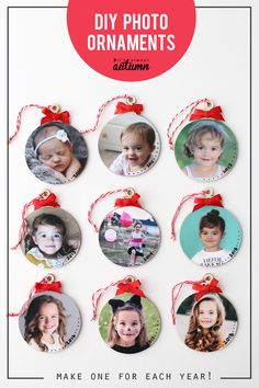 Make Keepsake Photo Ornaments This Christmas Easy Picture Ornament Tutorial Happy New Year Picture Christmas Ornaments, Diy Photo Ornaments, Ornament Crafts, Diy Christmas Ornaments, How To Make Ornaments, Christmas Pictures, Christmas Decorations, Ornaments Ideas, Christmas Wreaths