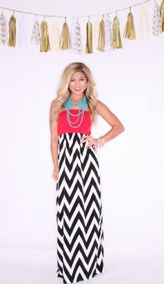 Game Day Glam Maxi In Red and White $44.00