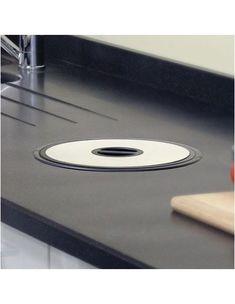 Worktop kitchen or bathroom waste bin dia 50399312 Bathroom Waste Bins, Kitchen Worktop, Work Tops, Chefs, Home Appliances, Stainless Steel, Club, Black, House Appliances