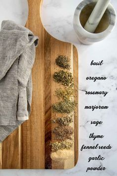 Tuscan Seasoning Recipe, Seasoning Mixes, Garlic Seeds, Fennel Seeds, Spice Blends, Spice Mixes, Clean Recipes, Cooking Recipes, Clean Foods