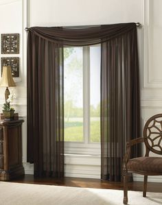 Chocolate Chiffon Curtain