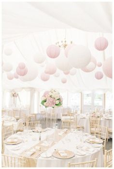 White Paper Lanterns Wedding Reception Decor EventdecoratorCom