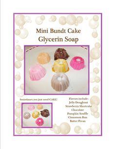 Mini Bundt Cake Soap, Soap Favors, Cake Soap, Dessert Soap Favors by…