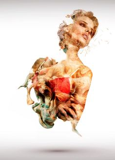 Watercolor Lingerie Ads - Alberto Seveso Blends Lingerie Models and Paint for Bustier's Ad Campaign (GALLERY)