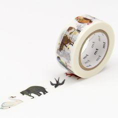 Decorate to your heart's content with this cute mt masking tape washi tape that features the whimsical illustrations of Alain Gree. Masking Tape, Washi Tapes, Tape Art, Stationary, Doodle Ideas, Diy Crafts, Cool Stuff, Retro, Handwriting