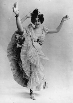 Parisian can-can dancer, 1895.