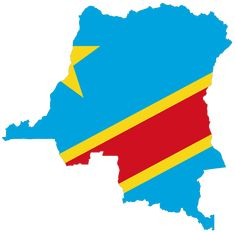Democratic Republic of Congo Flag Map
