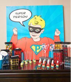 Vintage SUPER HERO Invitation - Super Hero Birthday Party Invitation - Customized Printable Invitation - with Photo