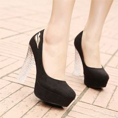 (39.54$)  Buy here - http://ai15r.worlditems.win/all/product.php?id=32740051455 - Glass Slipper Light Sexy Pumps Women Dress Shoes Plateau Lips Platform High Heels Office Wear Cheap Chunky Transparent Heel