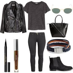 Fall Outfit Idea 2016 Polyvore.Great for Moms,Schools,Teens,Hipster,Women,This outfit can be worn casually or in parties. streetstyle chic fall outfit classy warm trendy party winter.Wedding,Bridesmaid.BikerJacket by H