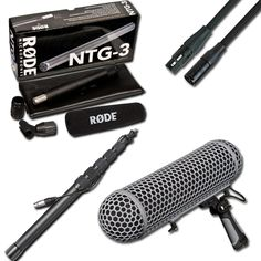 Shop DVeStore | We built the Location Sound Package featuring the NTG-3 Shotgun Microphone, The RODE Blimp, your choice of a K-Tek Boom Pole and Audio Technica 30ft XLR Cable.